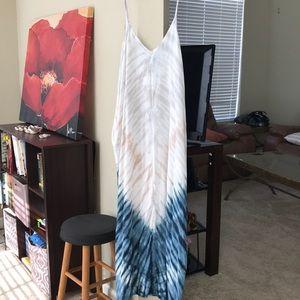 Ombré style floor length dress